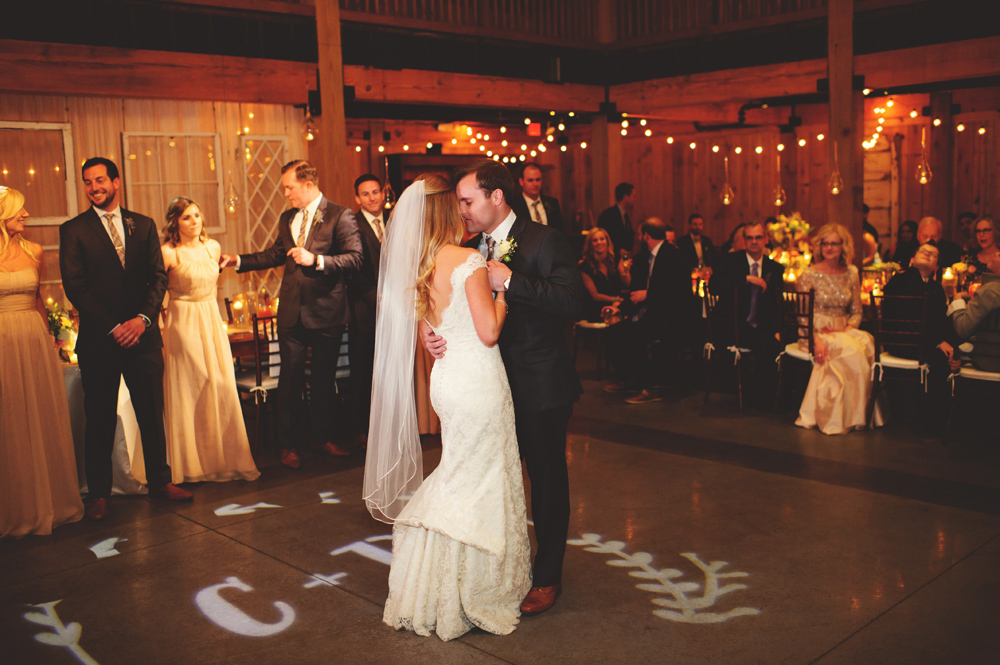mint springs farm wedding: first dance