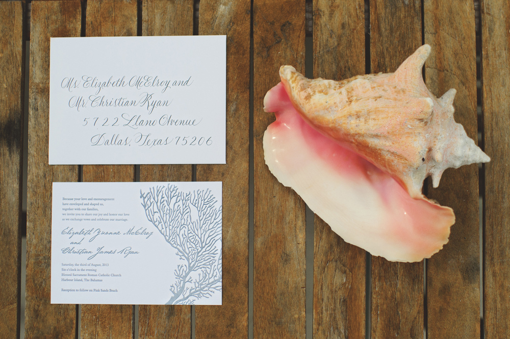harbour island wedding invitation