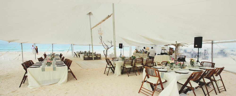 harbour island wedding tent setting