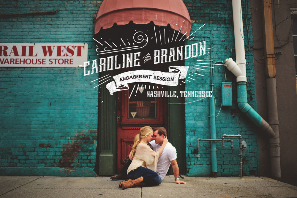 downtown nashville engagement photos