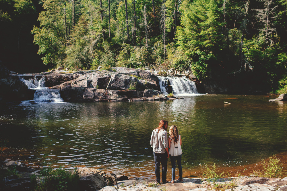 linville falls engagement session