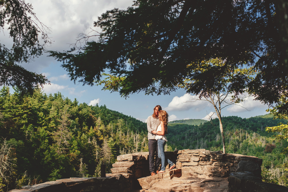intimate blue ridge mountain engagement