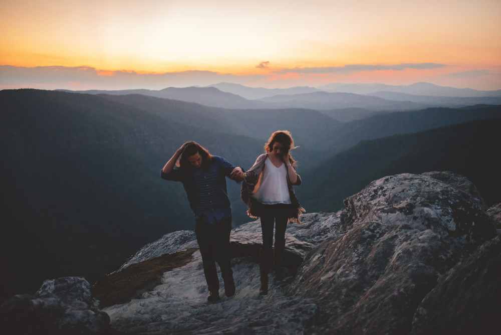 hipster nc mountain elopement