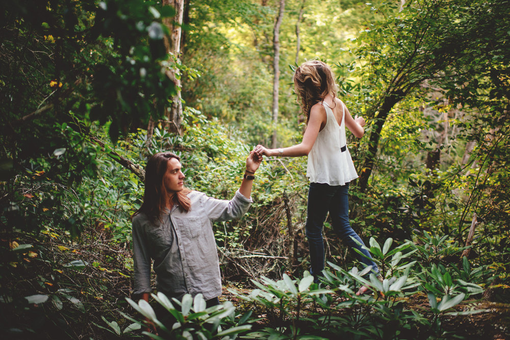 adventurous north carolina engagement photos