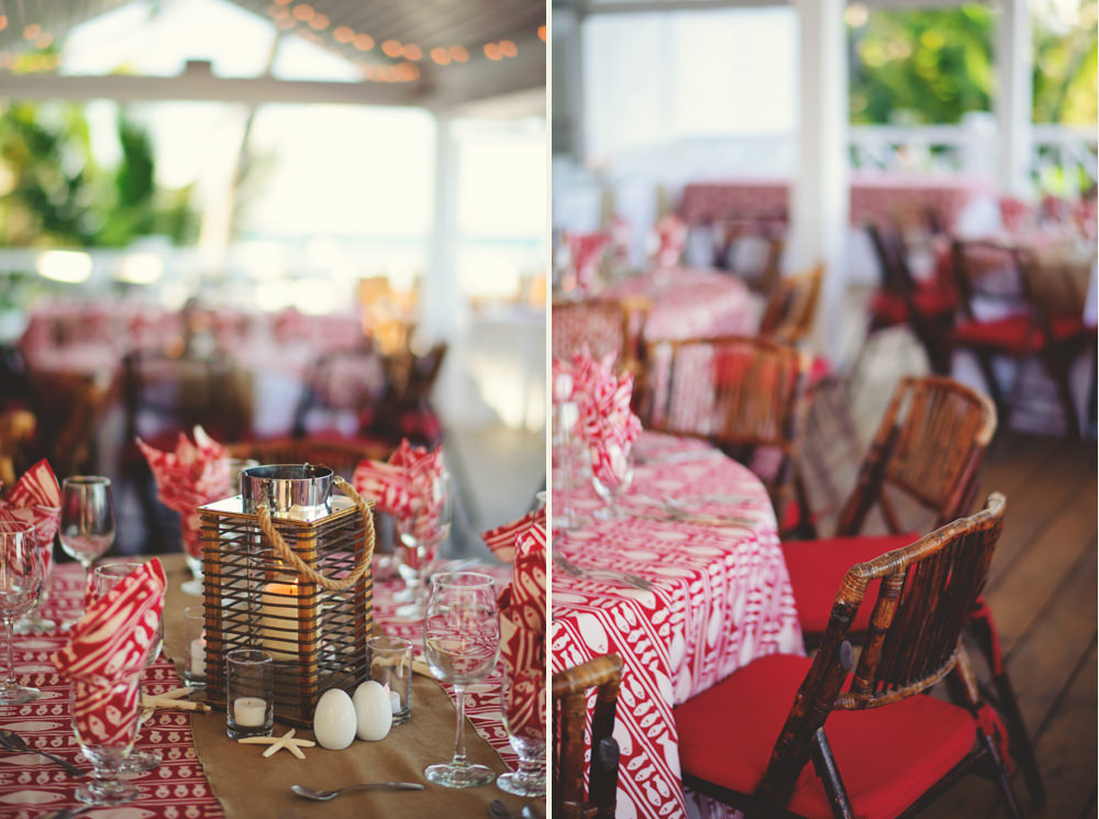 coral sands rehearsal dinner decor