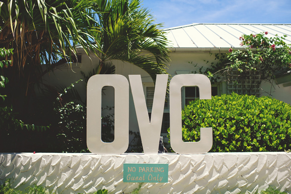 ocean view club wedding : sign