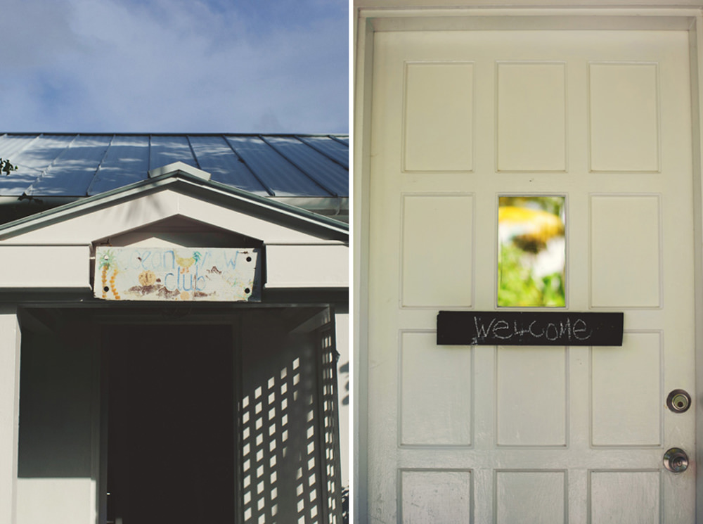 ocean view club wedding : front door