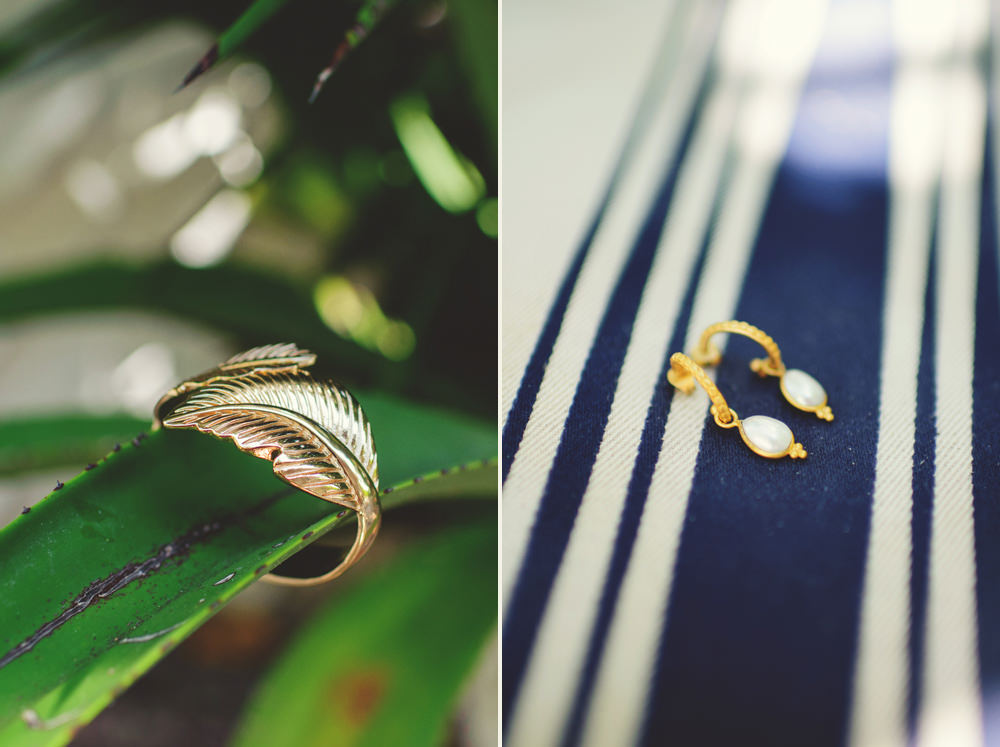 ocean view club wedding : bracelet and earrings