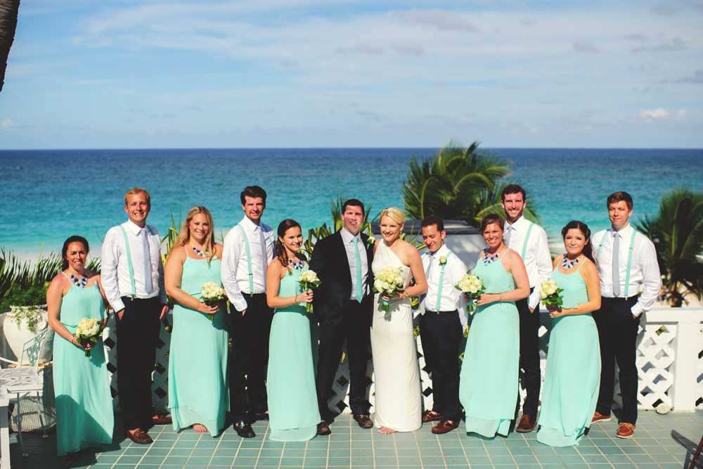 ocean view club wedding : bridal party