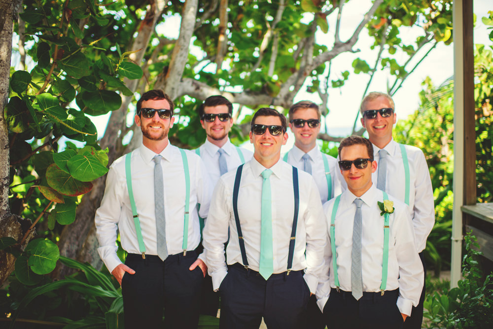 ocean view club wedding : groomsmen