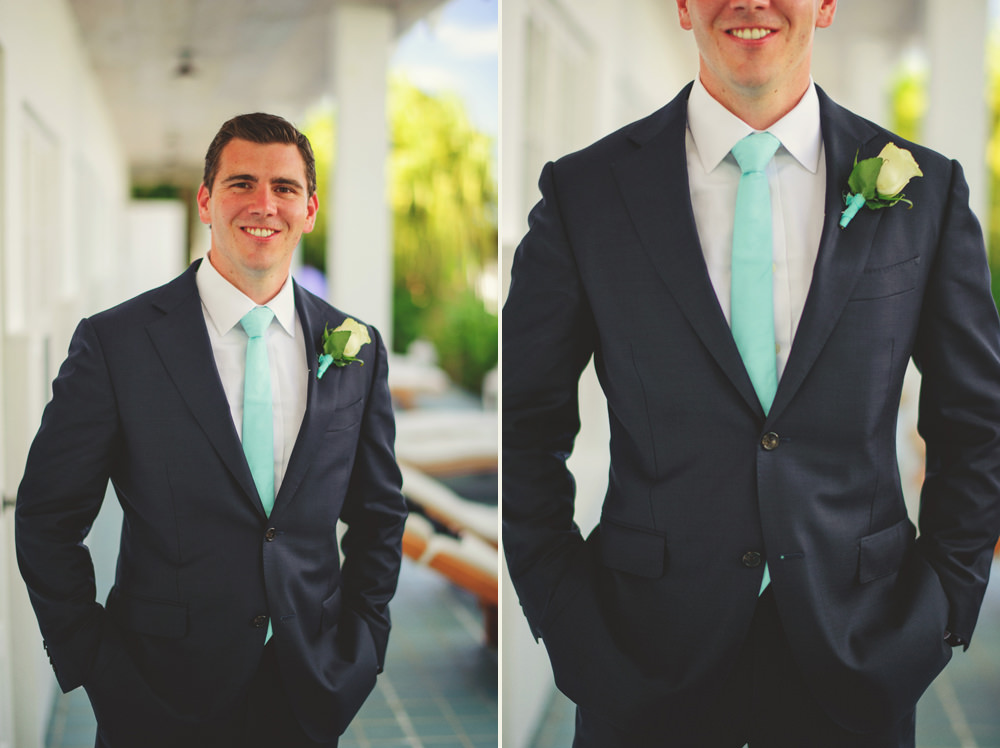 ocean view club wedding : groom in suit supply