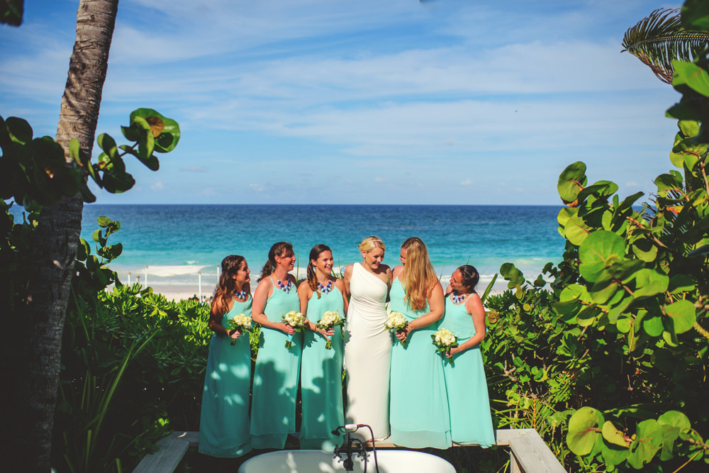 ocean view club wedding : bridesmaids