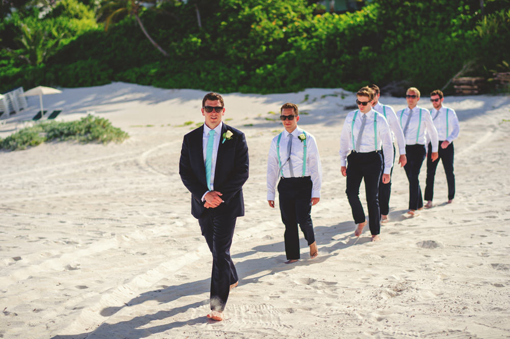 ocean view club wedding : groom walking down aisle