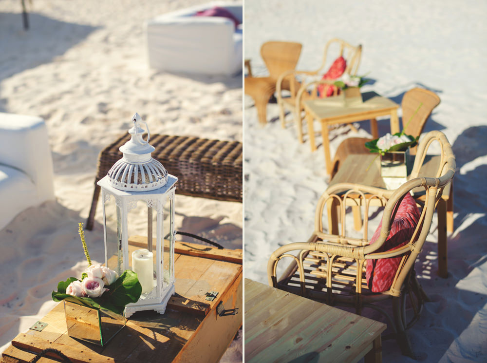 ocean view club wedding : beach decor
