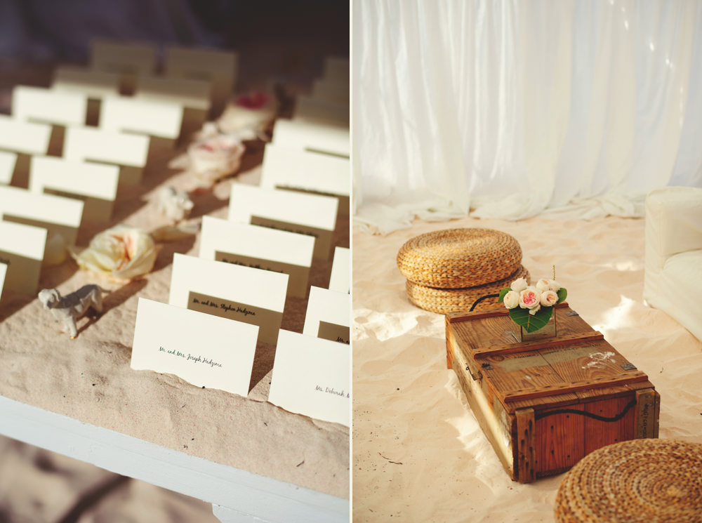 ocean view club wedding : place cards