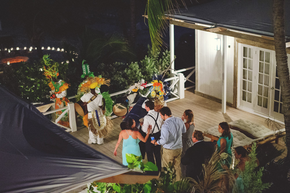ocean view club wedding : junkanoo march to reception