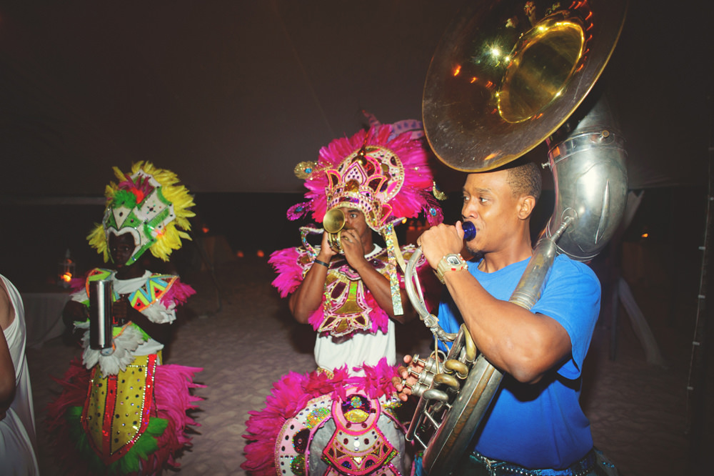 ocean view club wedding : junkanoo dancing