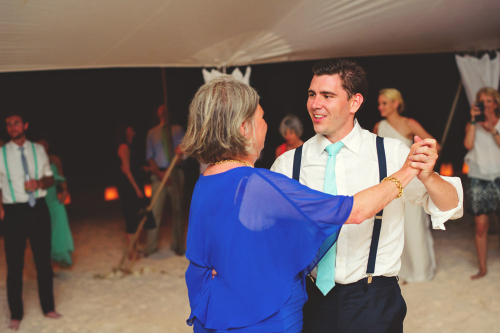 ocean view club wedding : mother son dance