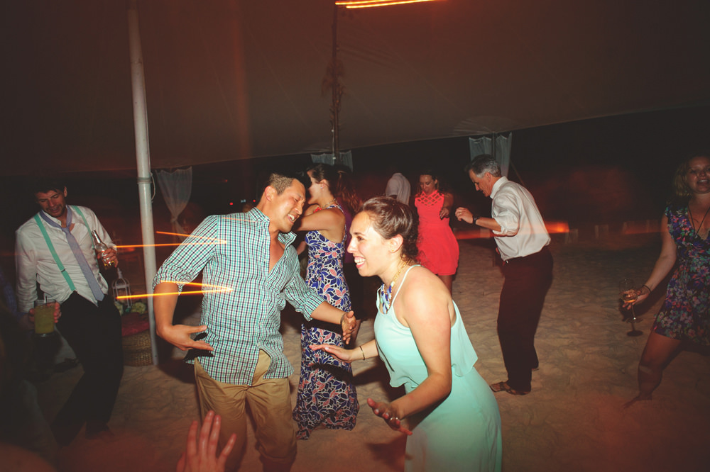 ocean view club wedding : fun dancing