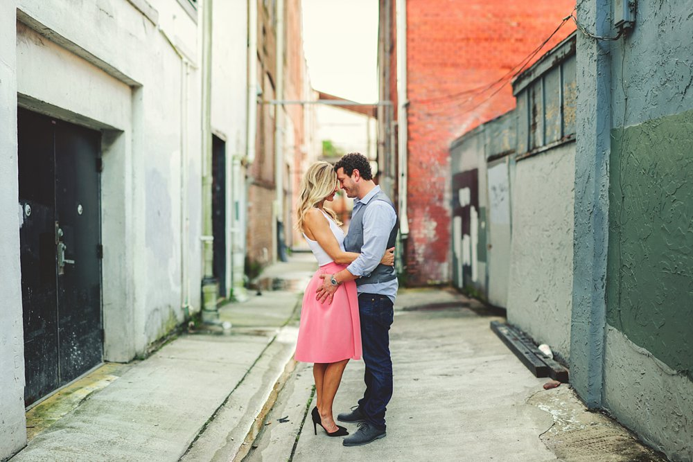 alley way ybor engagement photos