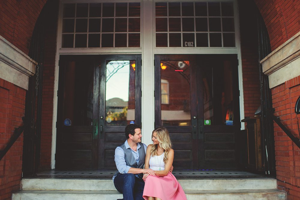 sitting on steps ybor engagement photos