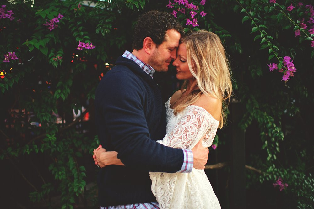 romantic boho engagement photos