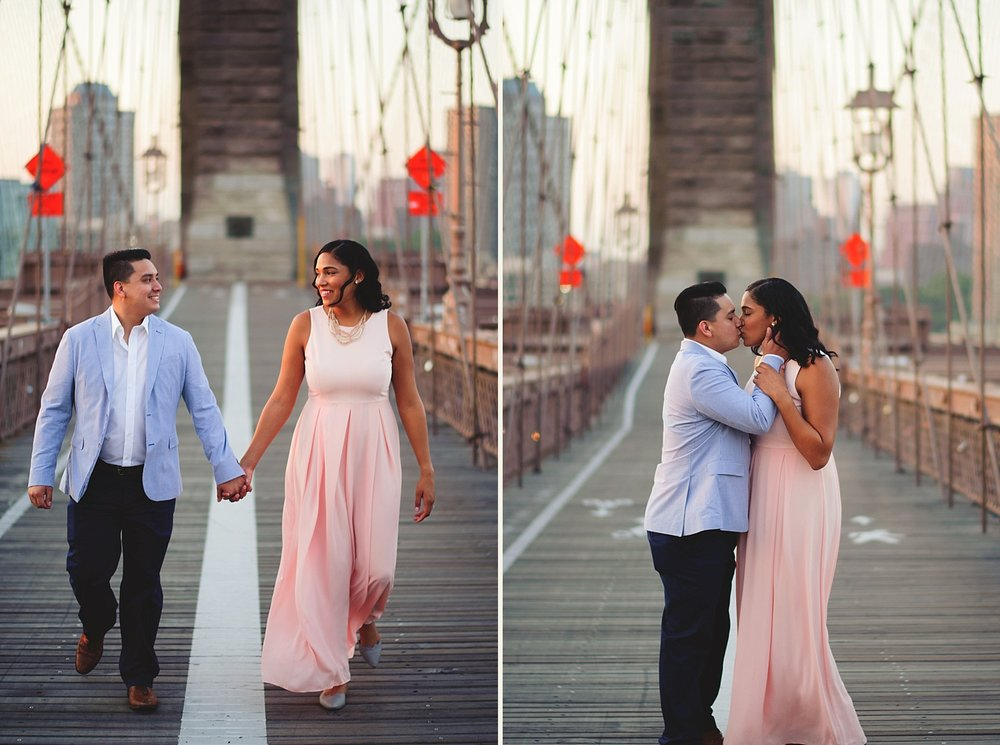 romantic brooklyn bridge engagement