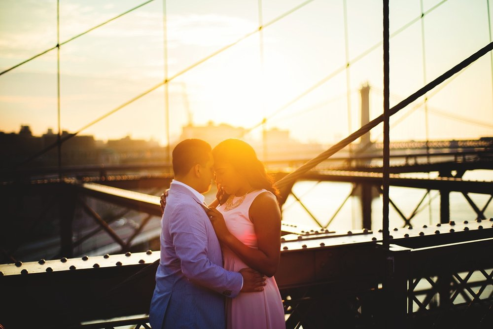 brooklyn bridge engagement