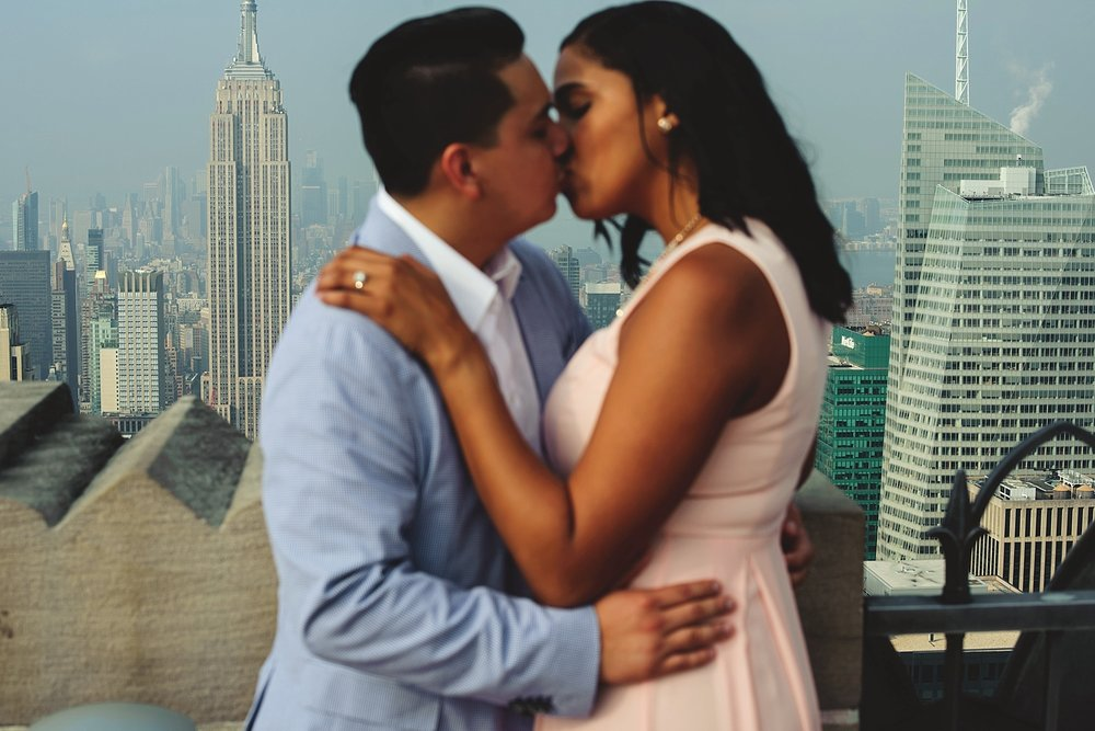 rockefeller center engagement photos