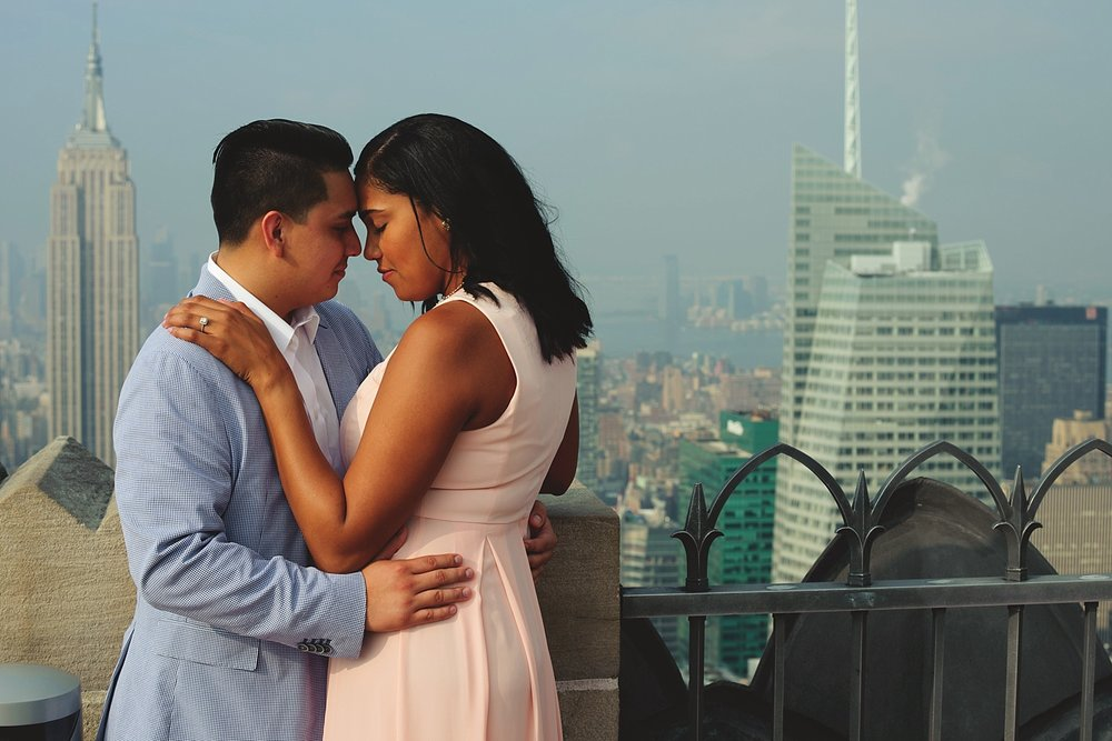 top of the rock engagement session