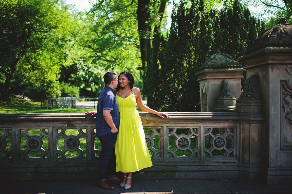 central park engagement pics