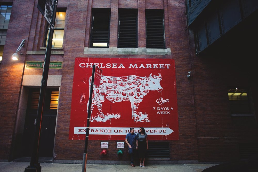 chelsea market engagement session
