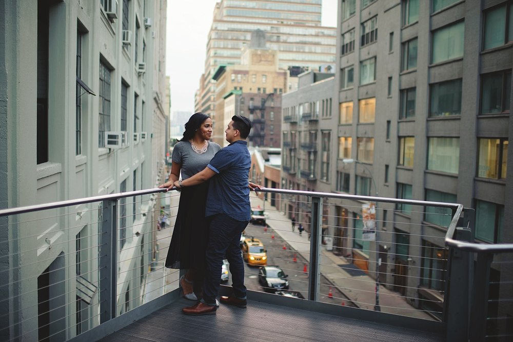 highline nyc engagement photos