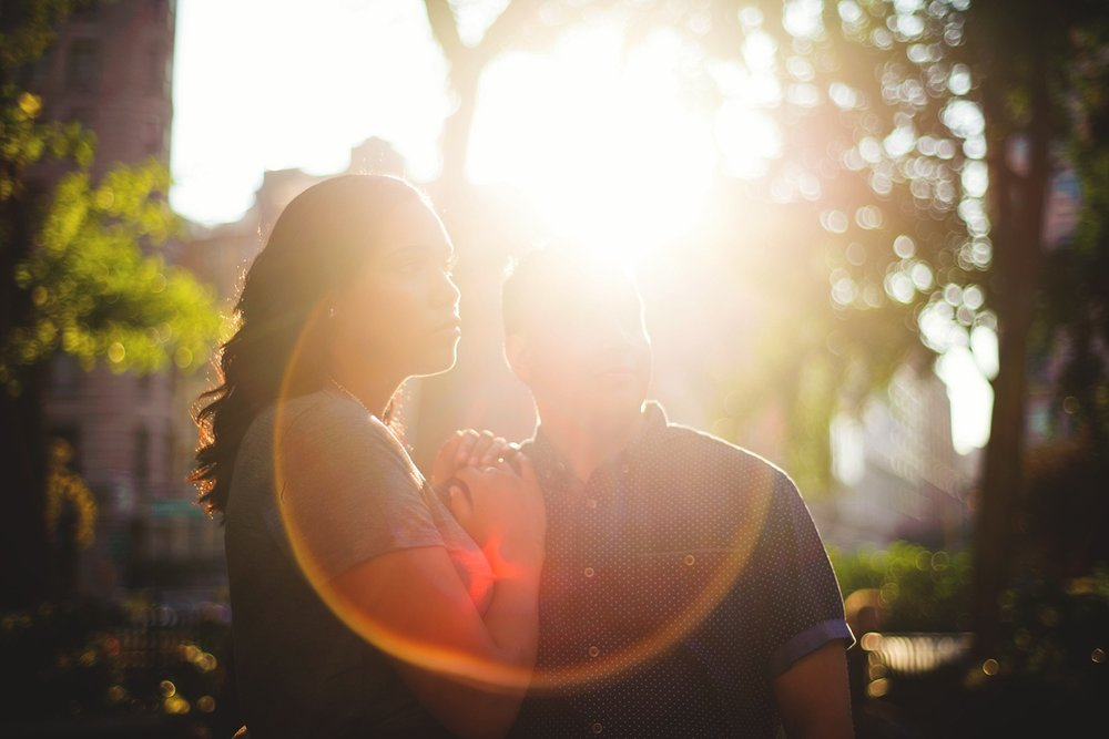 sunny nyc engagement photos