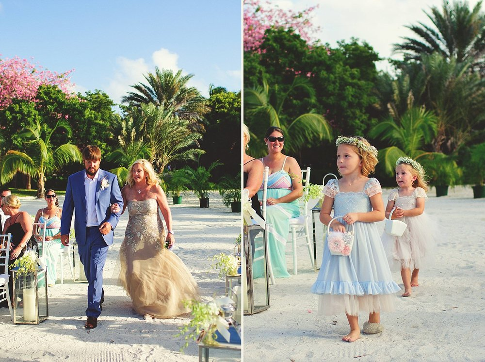 pierre's restaurant wedding: groom walking down aisle