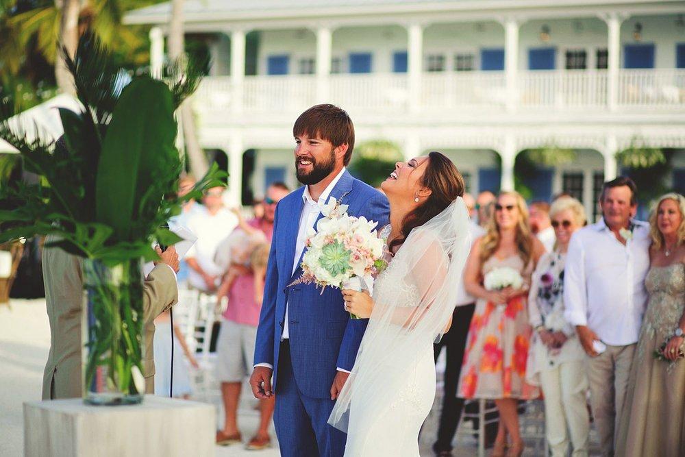 pierre's restaurant wedding: bride laughing