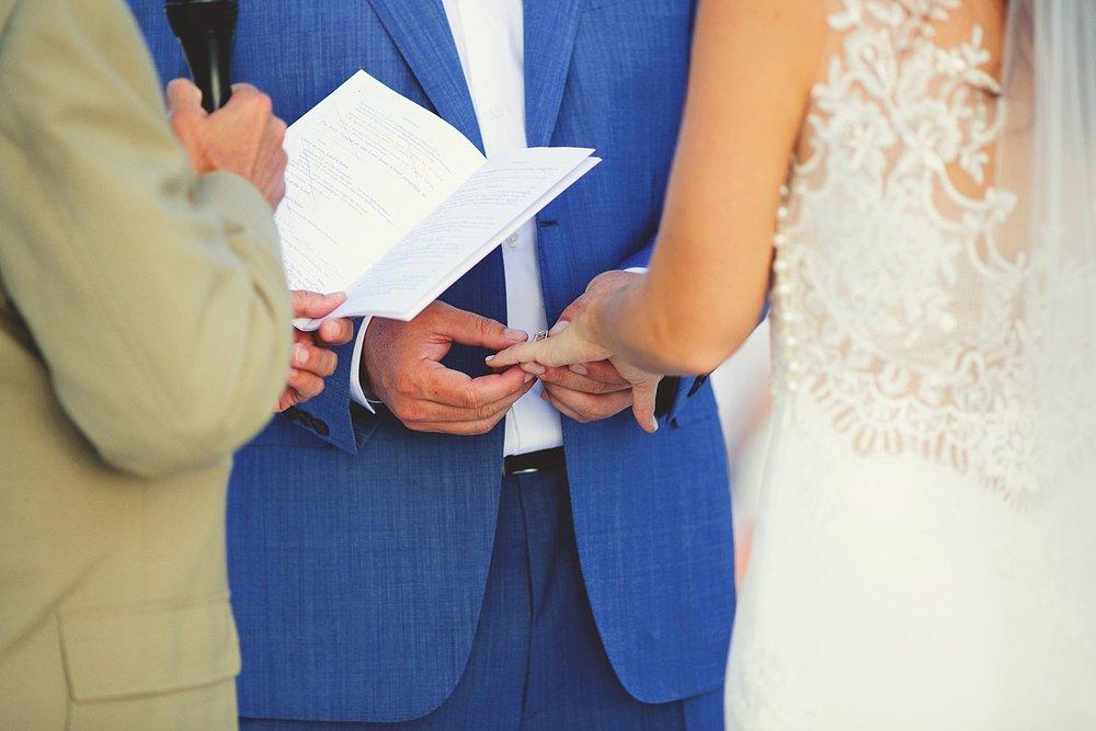pierre's restaurant wedding: ring exchange