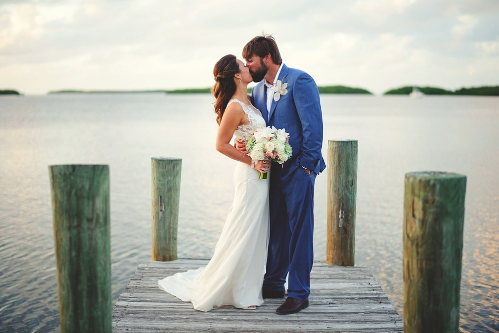 pierre's restaurant wedding: pictures on the dock