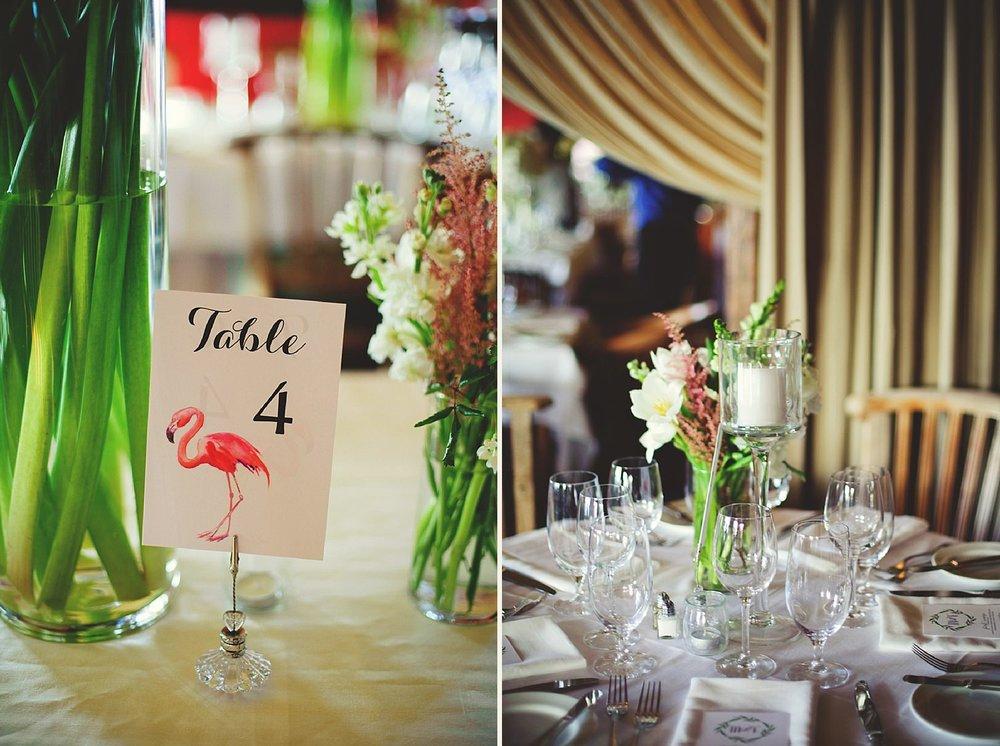 pierre's restaurant wedding: reception details