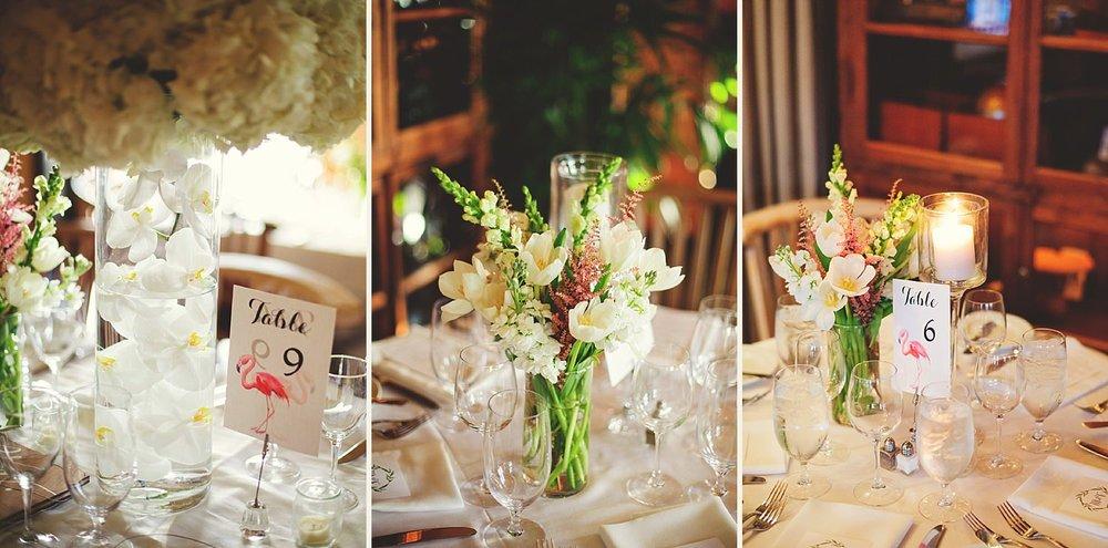 pierre's restaurant wedding: elegant details