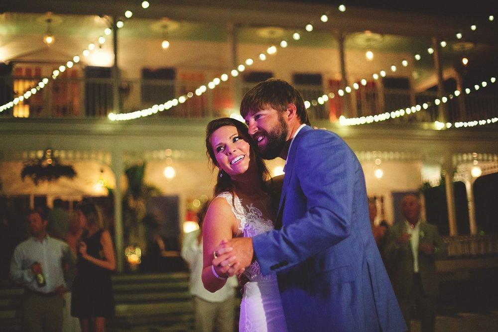 pierre's restaurant wedding: bride and groom's first dance
