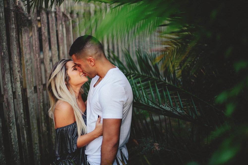 winter garden engagement photos: romantic couple