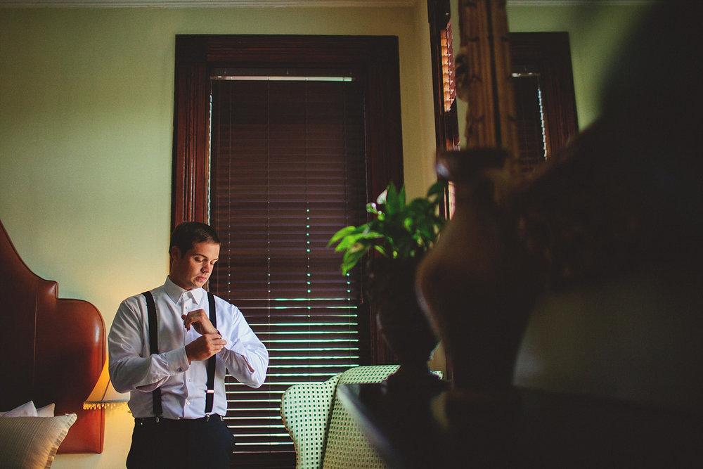 Harper Fowlkes House wedding: groom getting ready