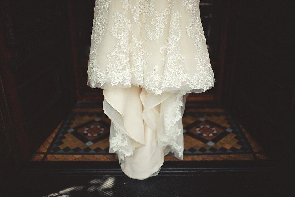 Harper Fowlkes House wedding: dress details