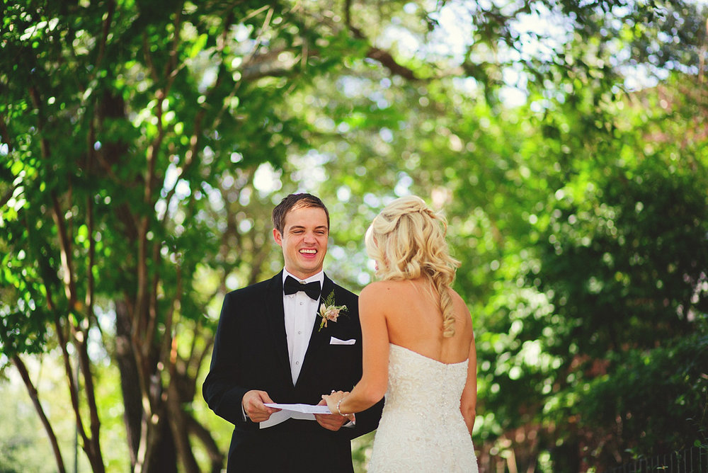 Harper Fowlkes House wedding: groom smiling