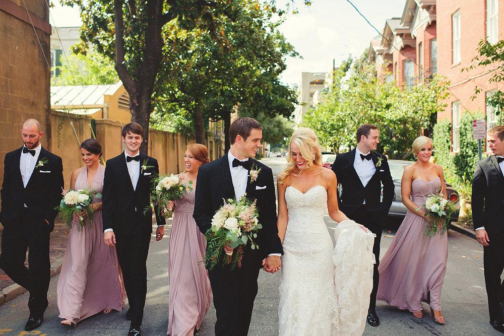 savannah wedding party