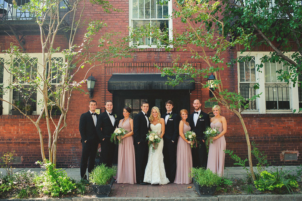 Harper Fowlkes House Wedding: bridesmaids and groomsmen