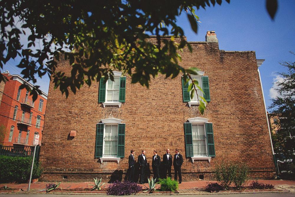 Harper Fowlkes House Wedding: groom and groomsmen