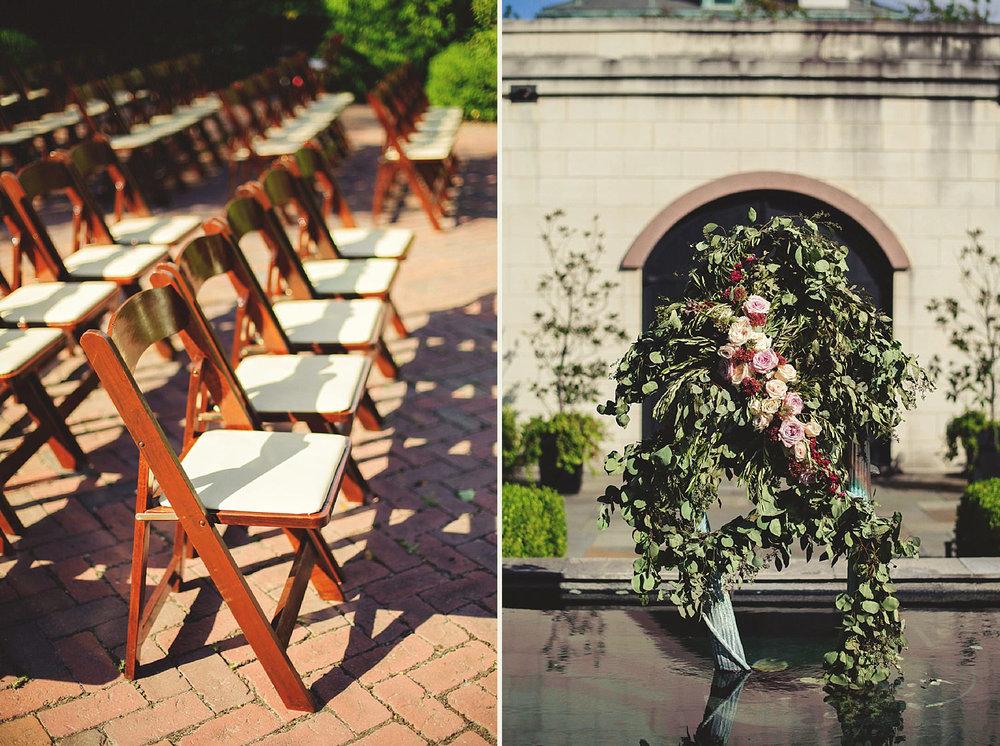Harper Fowlkes House Wedding: ceremony decor