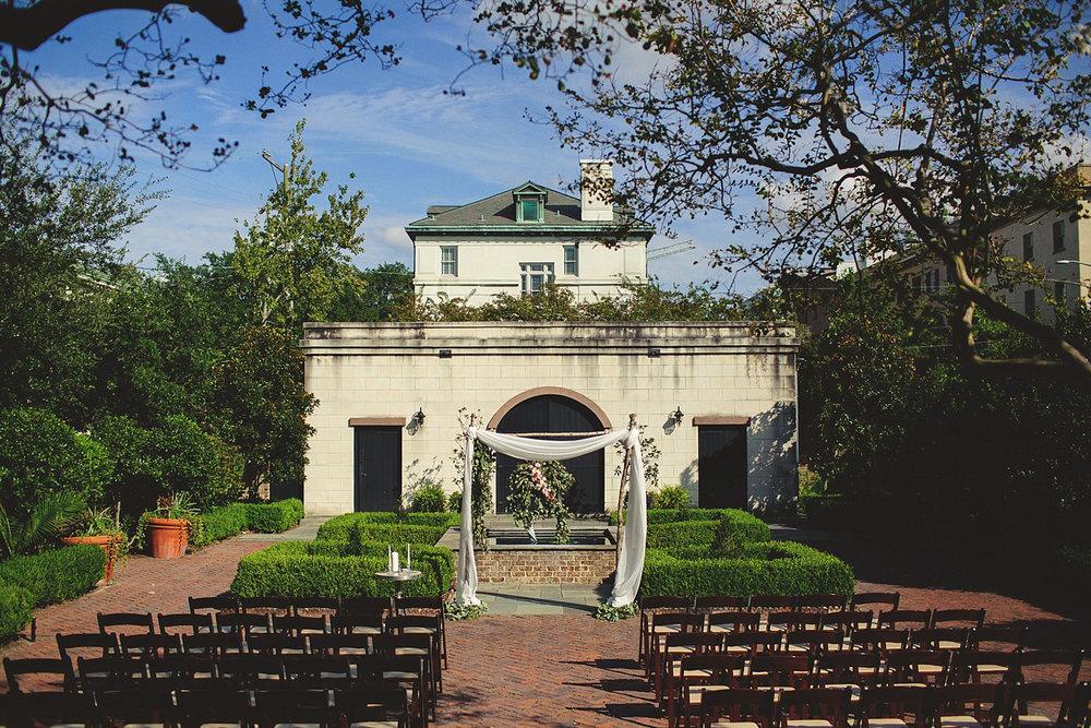 Harper Fowlkes House Wedding: ceremony setup